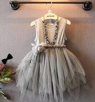 Sleeveless Appliqued Sashes Irregular Gauze Tiered Princess ...