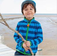 Baby Boys Polar Fleece Winter Stripes Coats Children Clothin...