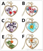 Hot Heart Flower specimens women locket Pendant Necklace All...