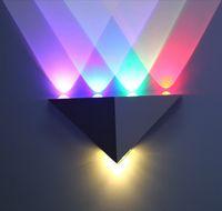 5W Треугольник LED настенный светильник Бра Зеркало лампы подсветки Декоративные Llight LED коридор зажигать Epistar экономии энергии Светодиодная лампа бар номер КТВ