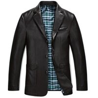 New Warm Thicken Leather Jackets for men European Coat Faux ...