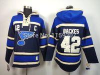 42 David Backes Hoodies Ice Hockey Jersey Free Shipping