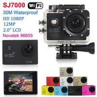 DVR NEW SJ7000 1080P Full HD WiFi Действие камеры Водонепроницаемая камера спорта 30M Дайвинг 12MP шлем видеокамера 2.0 LCD CMOS DV автомобиля