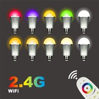 10pcs lot Wireless Intelligent LED Mi Light Lamp Bulb 2. 4G W...