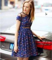 European Summer Youth Women Dresses Gauze Tulle Splicing Flo...