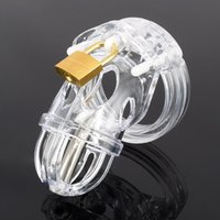 Plastic Male chastity lock Chastity Device with urethral cat...