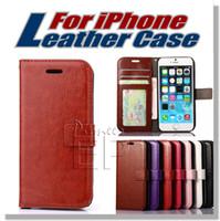 Pour iPhone 7 plus cas portefeuille iphone 6 6s plus housse housse avec slot pour carte Cadre photo avec slot pour carte de crédit pour samsung note 7 S7