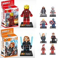 2015 The Avengers 2 Action Figures Blocks Puzzles Marvel Her...