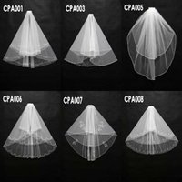 2015 Real Image Wedding Veils 2 Layers Beads White Ivory Tul...