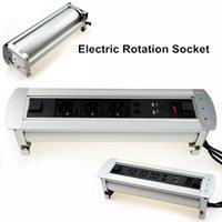 Intelligent 360° Electric Rotation Desktop Socket with USB I...