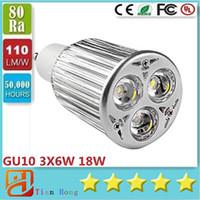 High Power GU10 3X6W 18W CREE LEDS Spotlight 85V- 265V Led La...