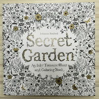 25x25cm 96pages secret garden inky coloring book for kids ad...