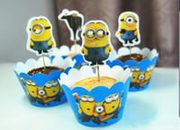 Cartoon Despicable Me Minions Cupcake Wrapper Decorating Box...