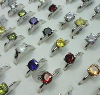 Mode Whole Zircon Cristal Argent Plaqué Bagues pour femmes Bijoux en vrac Lots LR421 Livraison gratuite