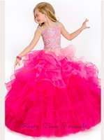 2015 Unique OMBRE Ruffled Organza Skirt party Time Perfect A...