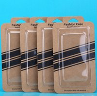 Universl Brown Kraft Paper Retail Package Cell Phone PVC Box...