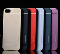 Iphone 6s Case, Motomo Luxury Metal Aluminum Brushed + PC Ha...