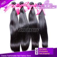 4pcs lot Hair Extensions 100% Brazilian Virgin Hair UNPROCES...