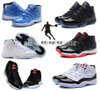 Wholesale- 6 color China Jordan' s 11 legend blue 11 baske...