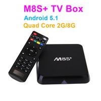 10PCS M8S + M8S Plus Android 5.1 TV Box Amlogic S812 Quad Core 2.4G5G Wifi 2 Go / 8 Go H.265 Gigabit-Lan Bluetooth4.0