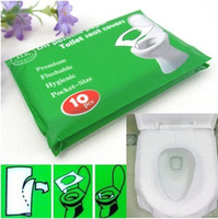 50pcs lot Travel disposable toilet seat cover mat 100% water...