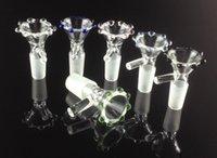 2016 design de mode bol en verre avec poignée verre sur verre 14mm 18mm fumoir beaucoup de couleurs aléatoire