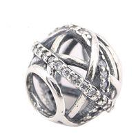 Perles Pour Pandora Charme 925 Sterling Silver Shamballa Croix Original Big Trou Perles Loose Fit Pandora Charmes 925 ale PX0055-1