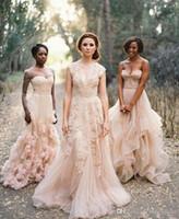 Arabic A Line Lace Wedding Dresses 2016 Spring Fall V Neck B...