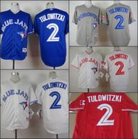 Toronto Blue Jays #2 Troy Tulowitzki White GRAY Blue Red Hom...