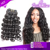 Wholesale 100% Human Hair Extentions Deep Curl Brazilian Rem...