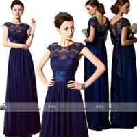 Cheap New In Stock Bridesmaid Dresses 2015 Hot Dark Navy Chi...
