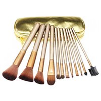 NEW HOT Nude Makeup Brushes Nude 12 piece Professional Brush...