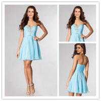 Cheap In Stock Cocktail Dresses with Rhinestone Crystal Swee...