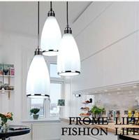 Modern minimalist Pendant Lamps three- headed glass pendant l...