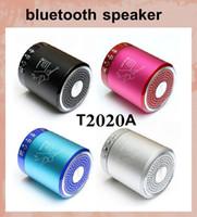 Ange parleur T2020A portable sans fil Bluetooth Mini Basse stéréo Soutien alliage Président Métal carte TF USB lecteur Handfree HiFi Musci MIS061