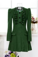 2014 Women' s Clothing Fashion Wool & Blends Green lotus...