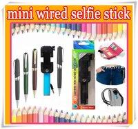 pen pocket Foldable super supreme mini Wired selfie stick Ex...
