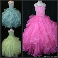 Real Picture Cheap Custom Made New Girl' s Pageant Dress...
