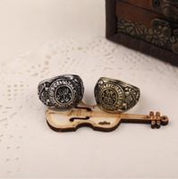 2016 Vintage Punk Ring Set Unique sculpté en argent Antique Totem Leaf Lucky anneaux pour les femmes Boho Beach Jewelry zj-0903156y