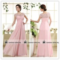 Pink Chiffon Lace Bridesmaid Dresses For Maid of Honor 2015 ...