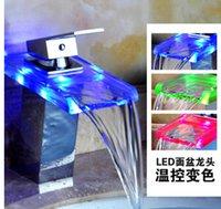 2015 LED faucet copper cold basin faucet waterfall faucet pl...