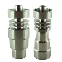 Universal Domeless Titanium Nail 4 IN 1 14,5 mm 18.8mm Fonction Dual Pipes GR2 Wax Oil Hookah eau Bong Ash Dab Rigs