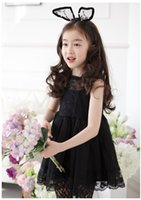 Girls Lace Dresses 2015 Gorgeous Kids Summer False Two Piece...