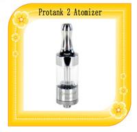 Protank 2 atomizador Electronic Cigarette 4,0 ml tubo de metal Drip Tip Pyrex Glass Pro tanque 2 Clone visión EVOD ego spinner 2