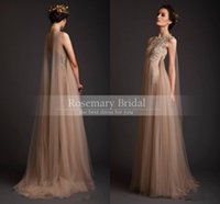2016 Elegant Long Tulle Bohemian Wedding Dresses Discount Cu...