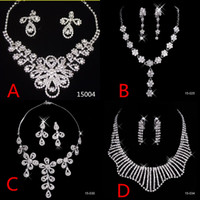 Cheap Bridal Jewelry Sets Silver Crystal Pendants Necklaces ...