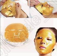 300pcs CCA3620 High Qualit Золото Био-Коллаген маска для лица Маска для лица Кристалл Золотой порошок Коллаген маска для лица Увлажняющий Антивозрастной маска