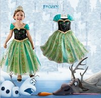 Children Frozen Dress Elsa Girls Princess Beads Yarn Flower ...