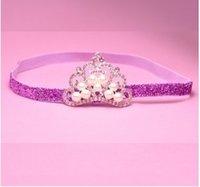 2015 Baby Girls Kids Lovely Pink White Crown Pearls Hair Ban...