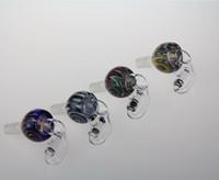 Date mâle coloré 18mm Quartz Seaux verre 14.4mm conjointe conjointe verre pivotant Banger Nail